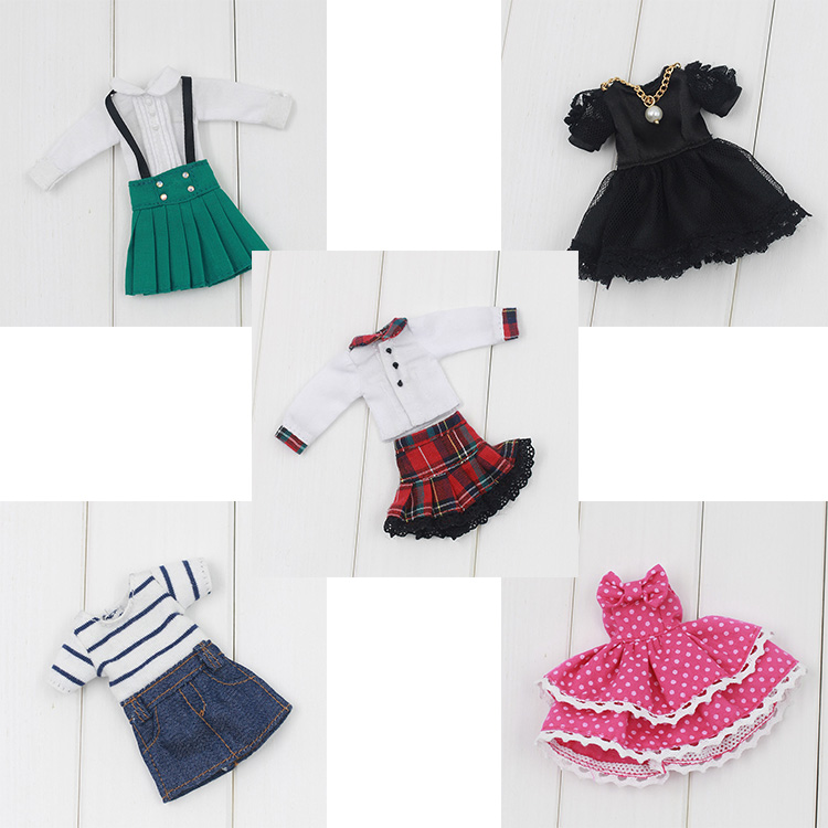Free shipping cost Middle blyth Doll Clothes 5 pcs/bag Random delivery for Middle blyth dolls(China (Mainland))