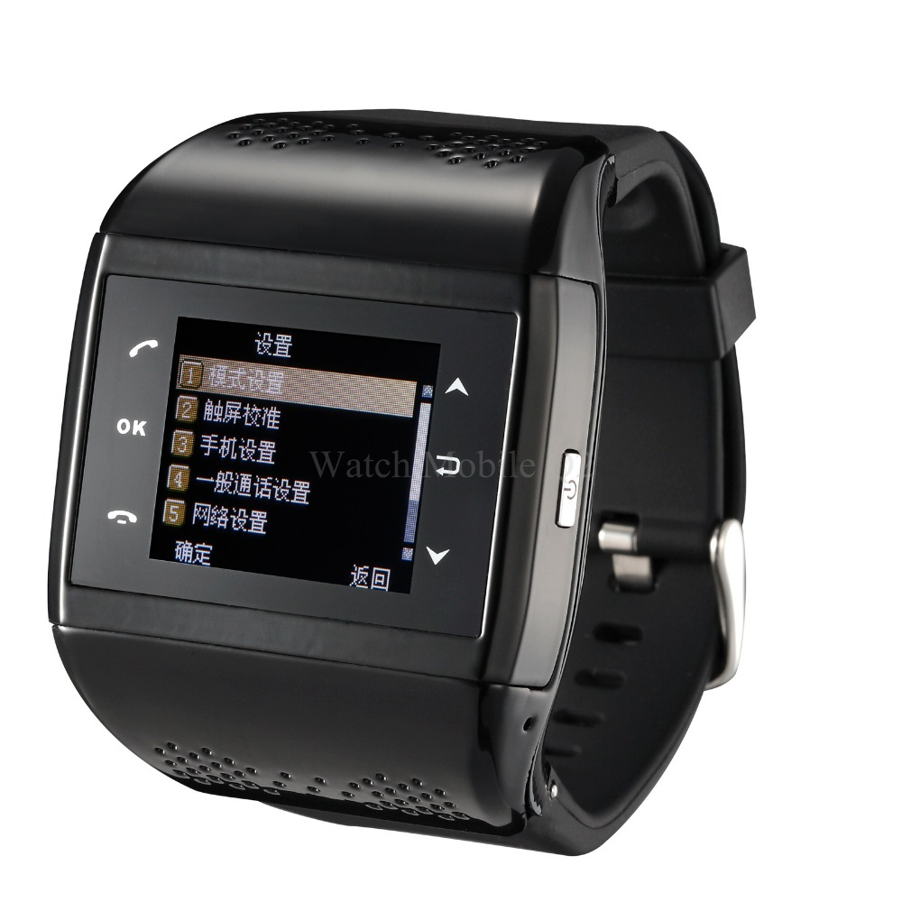 Dual Sim fashionable smart watch phone Q2 camera,compass,1.4 inchtouchscreen,no keypad,MP34,bluetooth,FM,G-sensor,free shipping(China (Mainland))