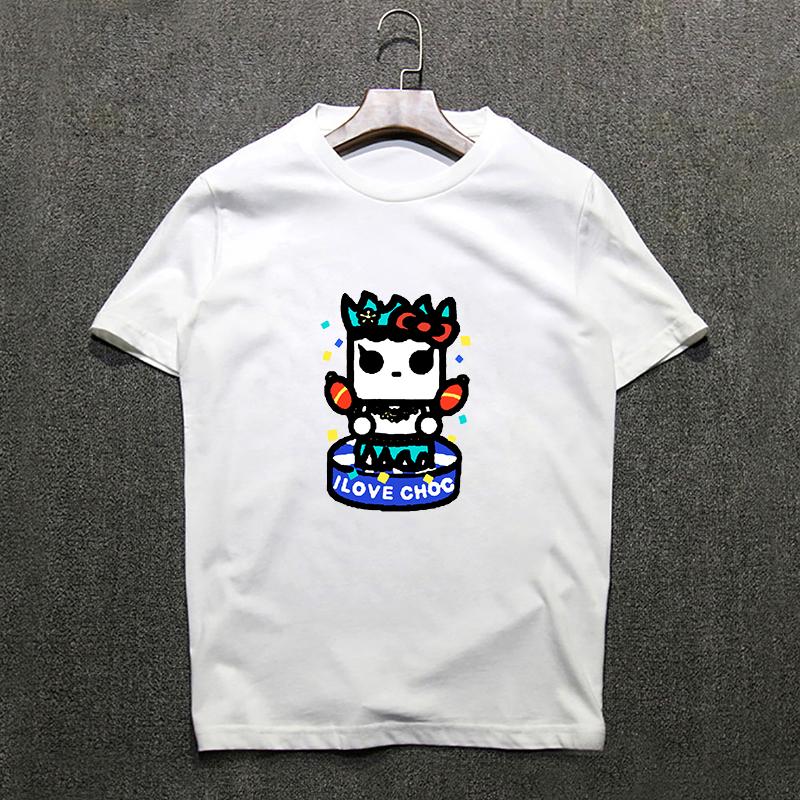 "fashionable woman tshirt top printed ""I Love Chocolate"" Letters cute Cartoon short sleeve Loose t shirts women 2 colors.tx0265(China (Mainland))"