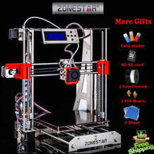 100% brand new Upgraded Quality High Precision Reprap Prusa i3 DIY 3d Printer kit P802 with 2 Rolls Filament 8GB SD card