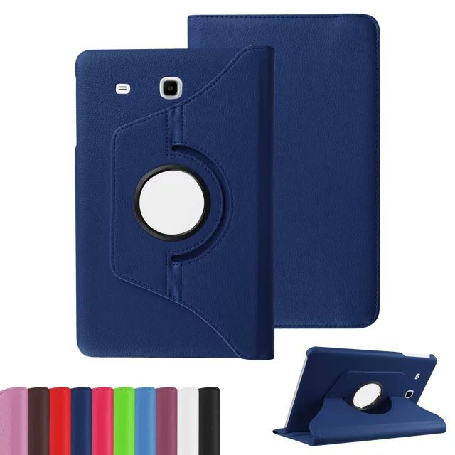 10pcs/lot New Rotating 360 Degree Luxury Folio Stand Rotary Leather Case Protective Cover For Samsung Galaxy Tab E 9.6 T560 T561<br><br>Aliexpress