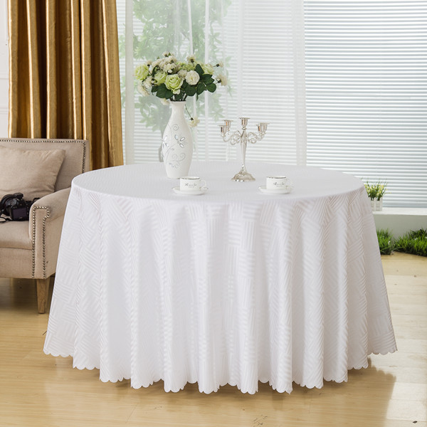 Decor White Dining Tablecloths Rectangular Jacquard Plaid Wedding Table Cloths Hotel Round Table Linen Home Table Covers(China (Mainland))