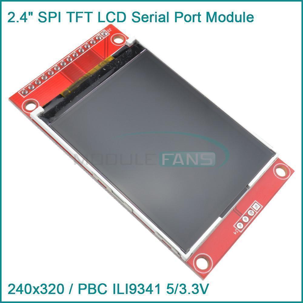 2 4 240x320 SPI TFT LCD Serial Port Module 3 3V PBC Adapter SD ILI9341