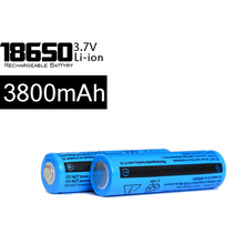 2015New 10Pcs/lot TR 18650 3800 mAh 3.7v Rechargeable Battery Repeatedly Used Blue 18650 Lithium-ion Batteries