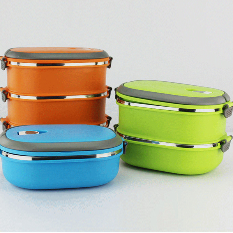 New Eco-Friendly Square Lunch Box Lunch Containers Portable Food Container sealed Student lunch box stainless steel(China (Mainland))