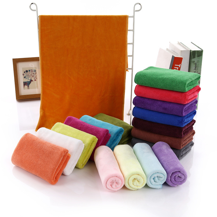 35X 75cm New Plain Soft Face Hand Auto Cloth Towels Microfiber Kitchen House Cleaning Salon Towels(China (Mainland))
