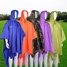 3 in 1 Multifunctional Raincoat Outdoor Travel Rain Poncho Backpack Rain Cover Waterproof Climbing Camping Tent Mat Awning(China (Mainland))