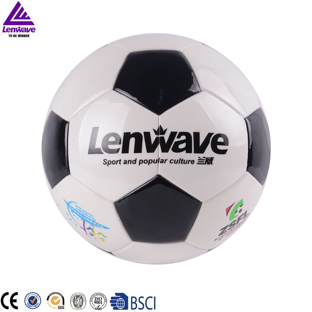 5 Size Soccer / Bright Smooth Leather White PU Football Ball # 2016 European Cup Live Football Game(China (Mainland))