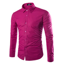 2016 high quality men's business shirt / promotion sale / Men's casual long-sleeved cotton shirt / male long sleeves tops shirts(China (Mainland))