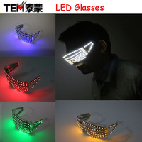 Free Shipping 5 Colors Strobe LED Flash Glasses For Dances / Party Supplies Decoration Flashing Glasses