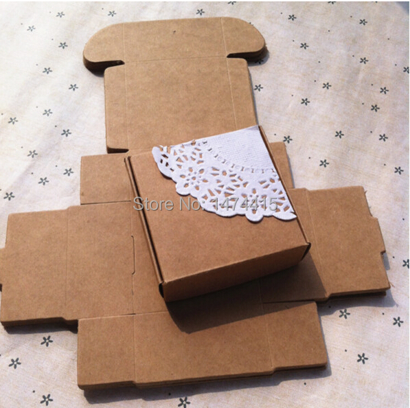Free shipping kraft paper box ,small gift box for candy samll Fitting package box(China (Mainland))