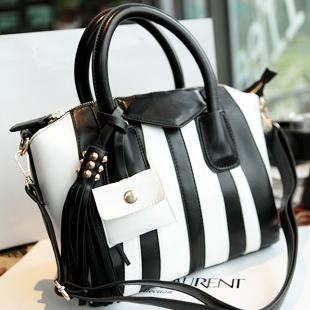 Ruina high quality fashion color block tassel accessories handbag cross-body women's handbag women's bag