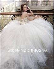Best Sell Newest Discount Crystal Rhinestone Wedding Gown Dress(China (Mainland))