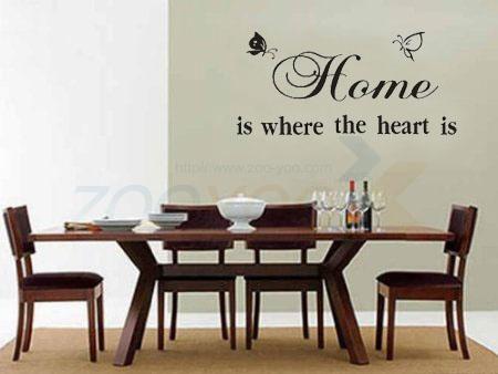 Бабочка стены котировки наклейка на стену декоративные съемный стикер стены винила '' дом там , где в форме сердца находится '' ZYVA-8007