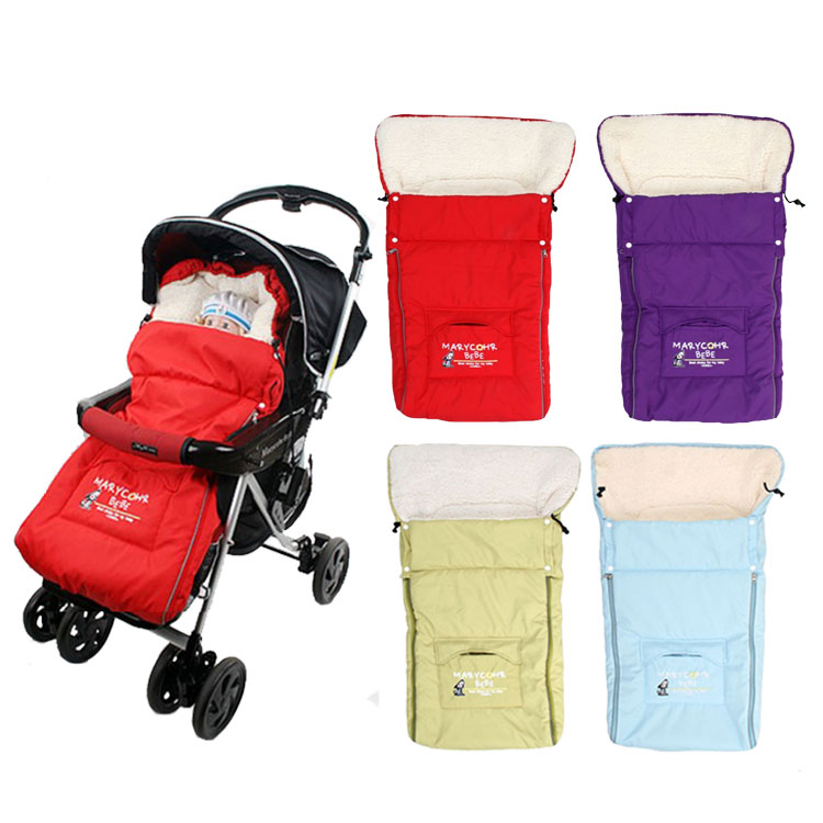 Hot Selling Baby Stroller Sleeping Bags Sleepsacks Cart Basket Infant Fleebag Cotton Thick Winter - Baby&Kid's Cares(Factory Outlets store)