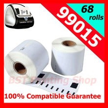 68x Adhesive Sticker Accept Shipping Labels  Dymo99015 ( Dymo Compatible Labels 99015) 70mmx54mm