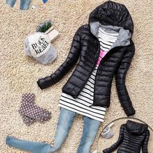 baumwolle kapuzen jacke frauen 2015 neue mode winter verdicken casual frauen mantel schlanke gepolsterte outwear chaquetas mujer(China (Mainland))