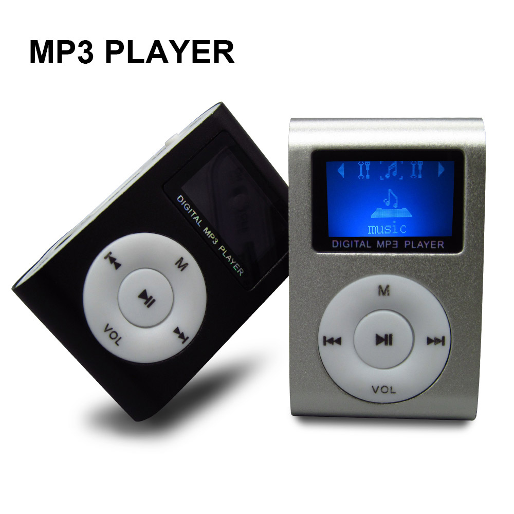 Mini LCD Screen Mp3 Player Multicolor Metal Clip Mini Mp3 Music Player Fashionable Gift With Micro TF/SD Card Slot Electronic(China (Mainland))