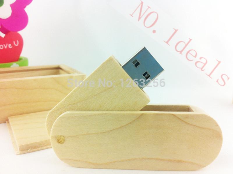 1pcs wooden U disk USB2.0 32GB 64GB usb flash drive Pendrives USB storage drive + wooden box package free shipping<br><br>Aliexpress