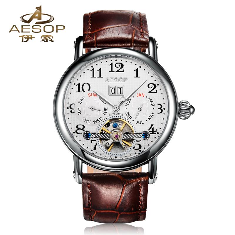 AESOP 9948 Switzerland watches men luxury brand genuine hollow automatic mechanical Tourbillon watch mens relogio masculino<br><br>Aliexpress