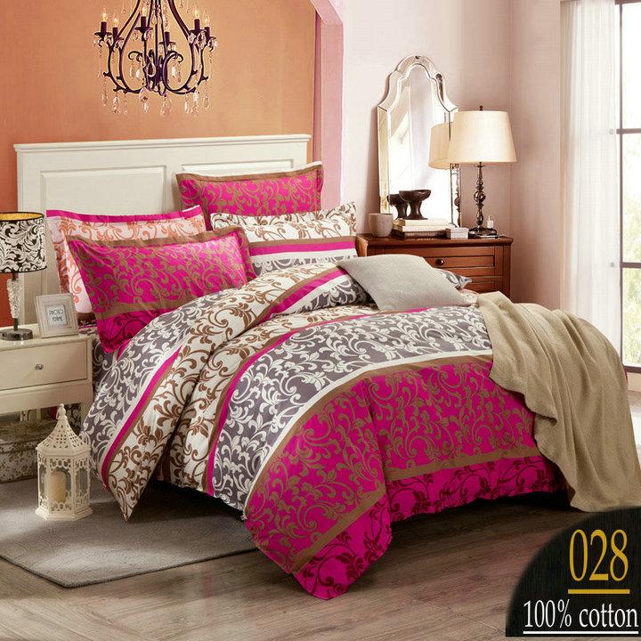 Warm pastoralism printing Bedding set Bed sheet 4PCS 100% Cotton Bed cloth Duvet cover set Bed line(China (Mainland))