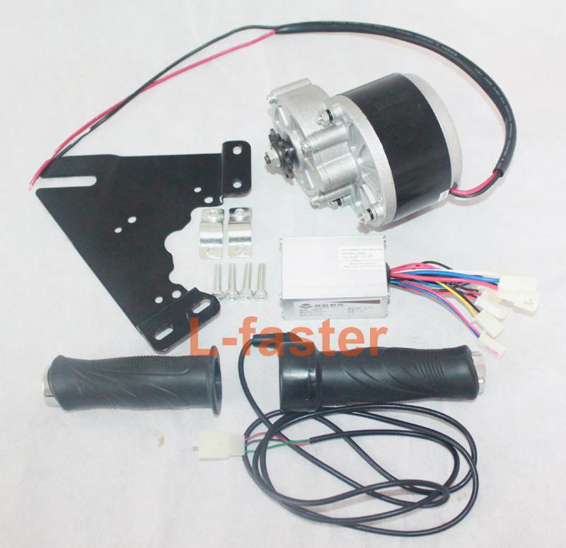 24V 250W Electric Motor Kit Unitemotor + Motor Controller + E-bike Throttle Electric Bike Motor Kit Electric Scooter Motor(China (Mainland))