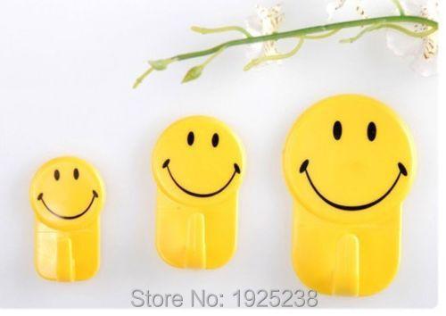 3 Pcs Smile Mutifunctional Bathroom Kitchen Towel Hanger Hook(China (Mainland))