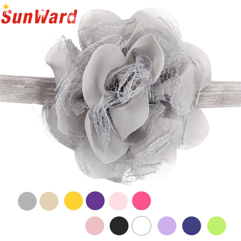 2016 Multicolor Flower Mini Headbands girl hair accessories Girl headband hair band newborn floral headband Drop S25