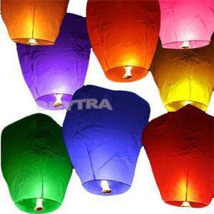 Color Random!!! Paper Chinese Lanterns Fire Sky Fly Candle Lamp for Birthday Wish Party Wedding Decoration(China (Mainland))