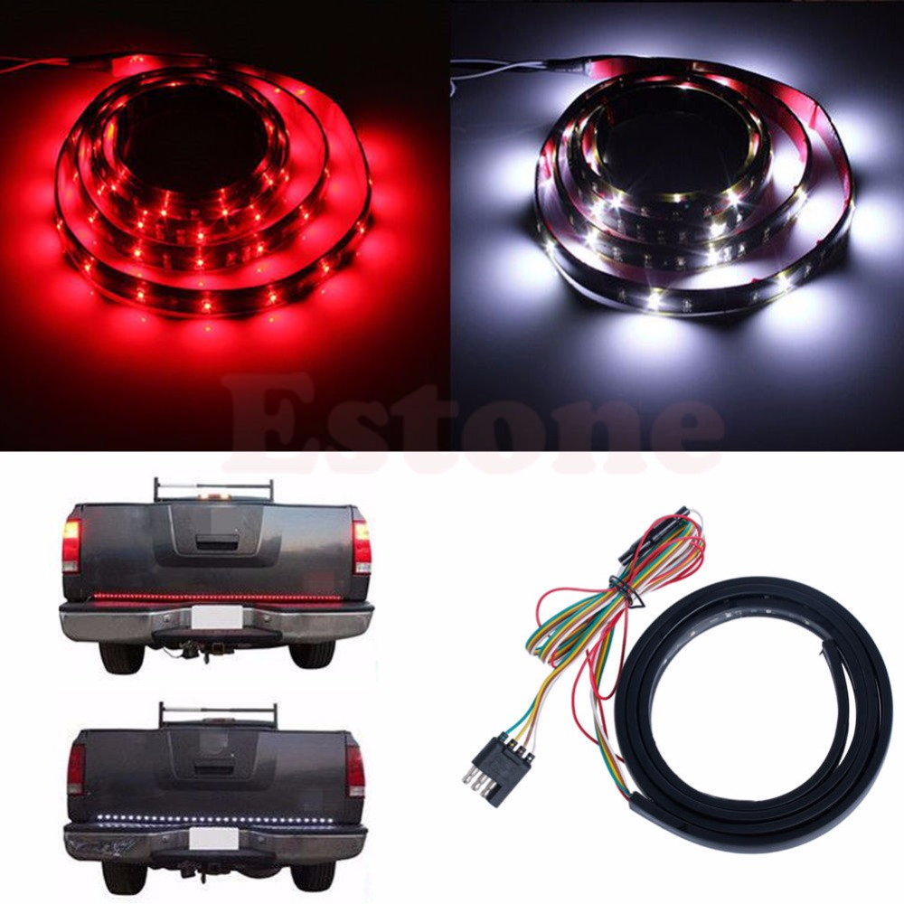 Free shipping for New 60 Flexible 5-Function LED Strip Tailgate Bar Brake Signal Light for Truck SUV<br><br>Aliexpress