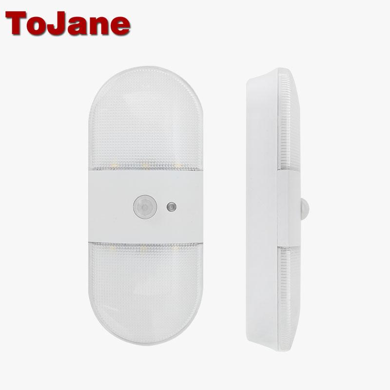 Tojane Led Sensor Light Closet Night Battery Lamp Motion Wireless Wall Lamp Bookcase Showcase Wireless Led Lamp TG206 AA Battery(China (Mainland))