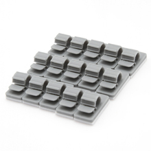 15pcs/set Plastic Cable Clips Fixer Fastener Organizer Holder For Electric Wire Cable grey(China (Mainland))