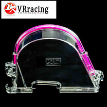 VR RACING STORE-CLEAR CAM GEAR COVER TIMING BELT COVER TURBO CAM PULLEY WITH LOGO FOR HONDA 96-00 EK VR6337(China (Mainland))