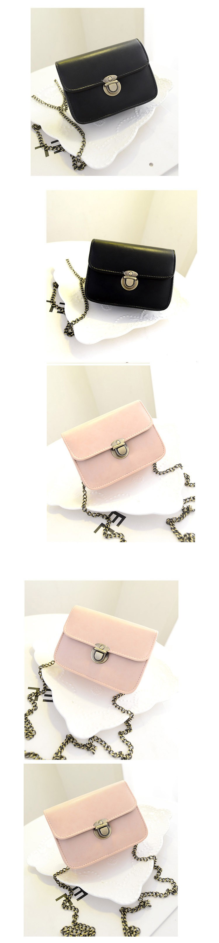 Cheap wholesale Christmas gift small hasp women messenger bag new fashion girl bargain price female pink black shoulder bag
