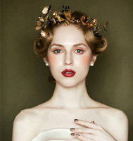 New Fashion Magnificent Rhinestone Bride Tiaras Rhinestone Gold Headbands for Women Wedding Pageant Hair jewelry Accessories