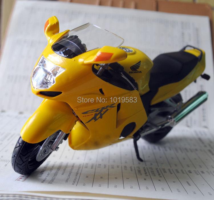 (5pcs/pack) Wholesale 1/12 Motorbike Model Toys HONDA CBR 1100XX Yellow Diecast Metal Motrocycle Model Toy -Free Shipping(China (Mainland))