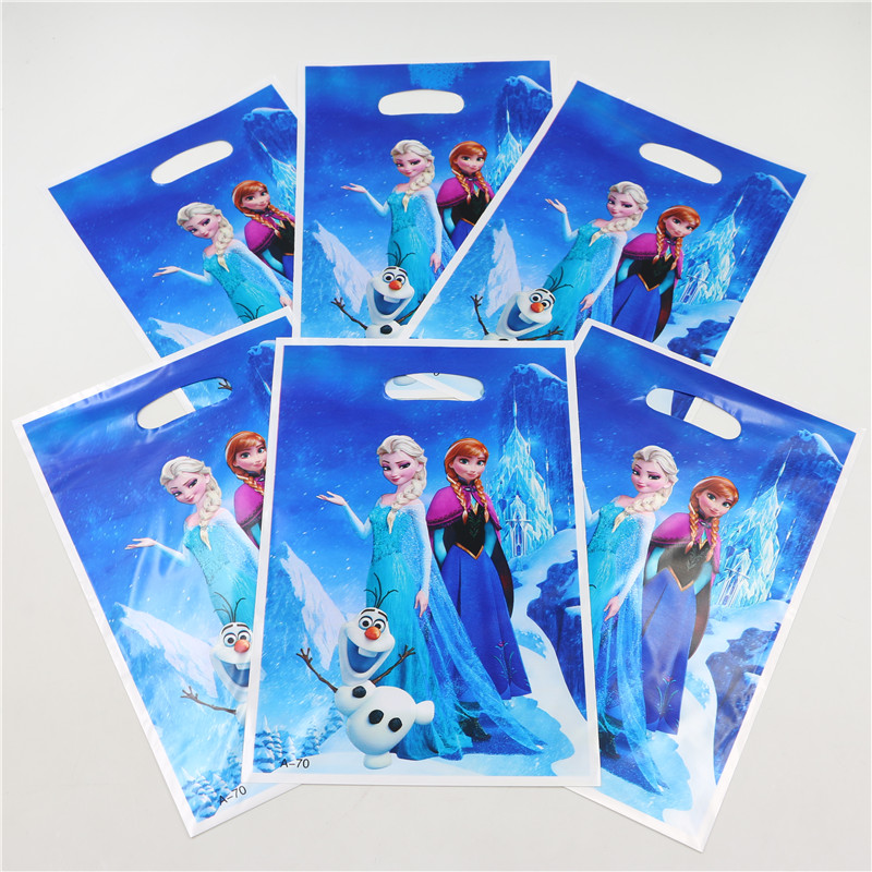 10pcs Loot Bag for Kids Birthday/festival Party Decoration Elsa Anna Theme Party Supplies Candy Bag Shopping Gift Bag(China (Mainland))