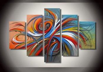 huile sur toile abstraite moderne: feux d'artifice