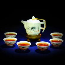 Buy 7 Pcs,beautiful,calvings glaze tea set purple kung fu teapot, suit Puer, Black Tea,Tieguanyin,Green Tea,White tea for $99.00 in AliExpress store