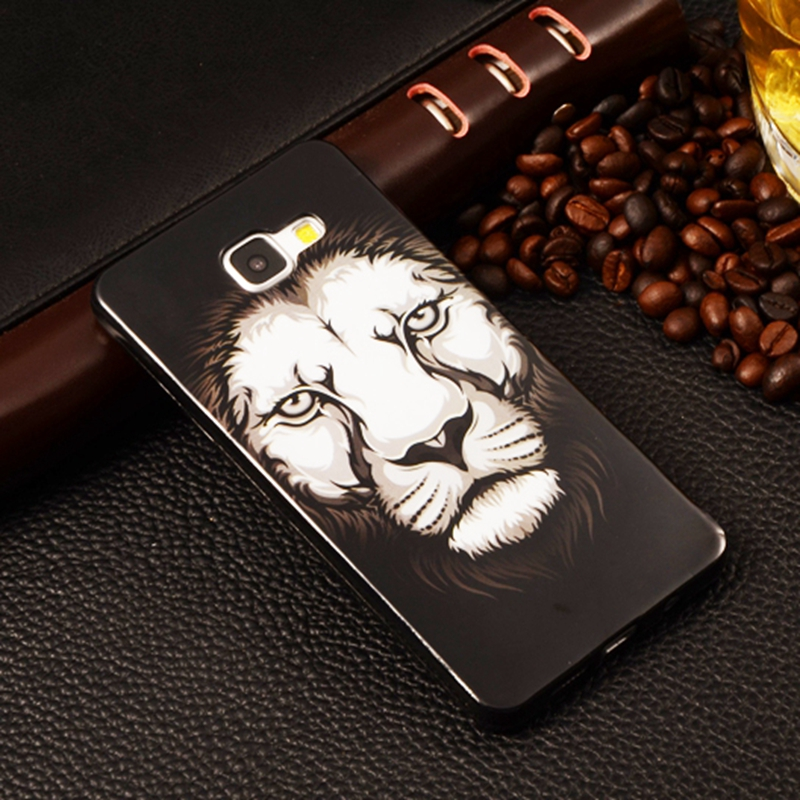 Painted Silicone Soft TPU Smart Phone Case Cartoon Lion Back Cover Samsung Galaxy A3 2016 A310F A310 A3100 4.7 inch  -  EQT Group store