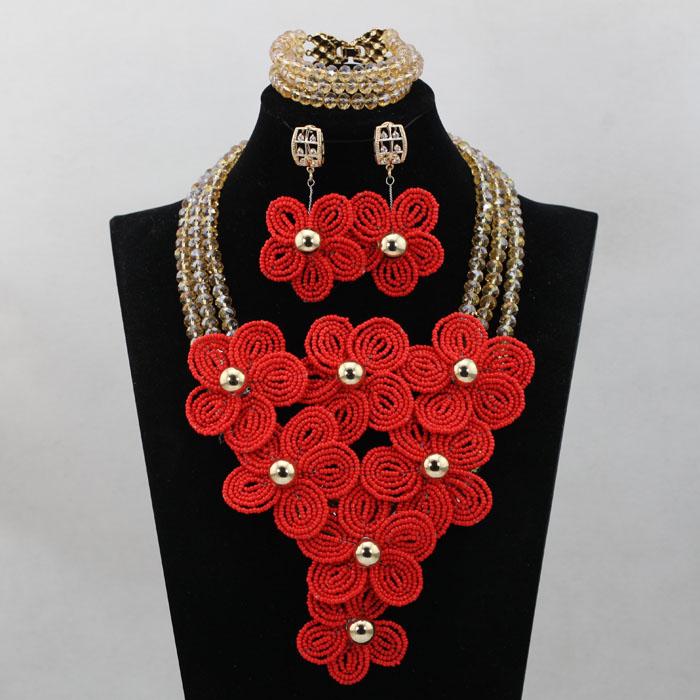 Orange Women Costume Jewelry Set Rare Wedding Jewelry Set Unique Design Wholesale Free Shipping hx190(China (Mainland))