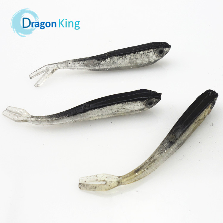 FREE SHIPPING 10PCS 75mm 2.2g soft fishing lure gray wobber lure swimbait fishing tackle lure hot sale artificial bait 21017(China (Mainland))