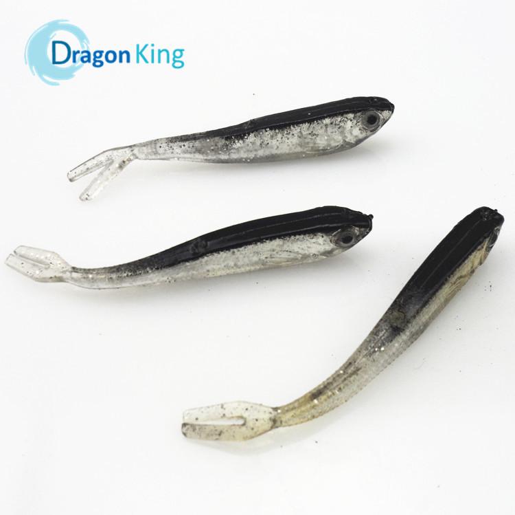 FREE SHIPPING 10PCS 75mm 2.2gram soft fishing lure gray lure swimbait fishing tackle lure hot sale artificial bait 21017(China (Mainland))