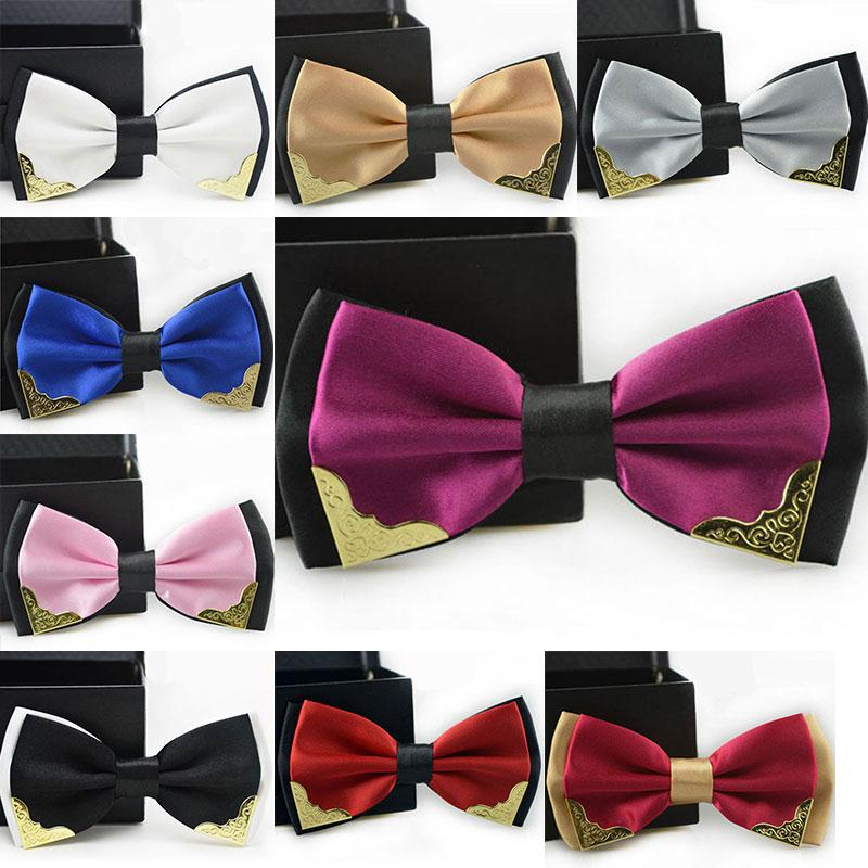 New fashion tuxedo bow tie men red and black font b tartan b font groom marry