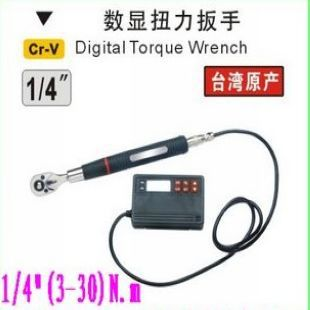 "BESTIR taiwan excellent quality Cr-V steel 1/4""(3-30)N.m digital electronic torque wrench tool,NO.06401 newest!(China (Mainland))"