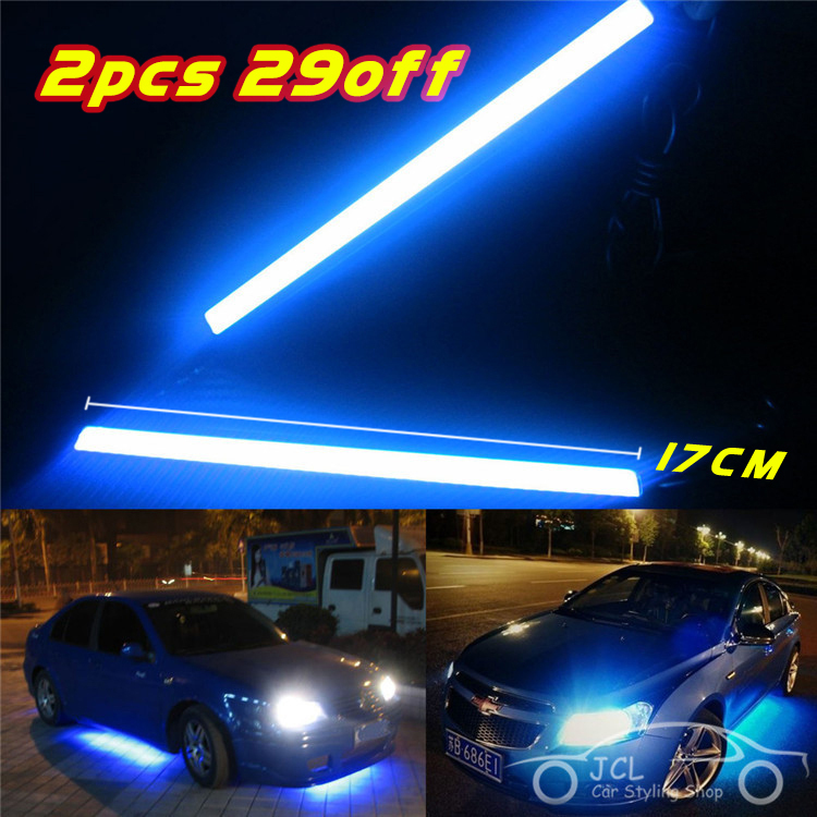 1pcs Waterproof 17cm COB DRL LED Car Parking LED DRL Daytime Running Light Auto Lamp For Universal Car light source(China (Mainland))