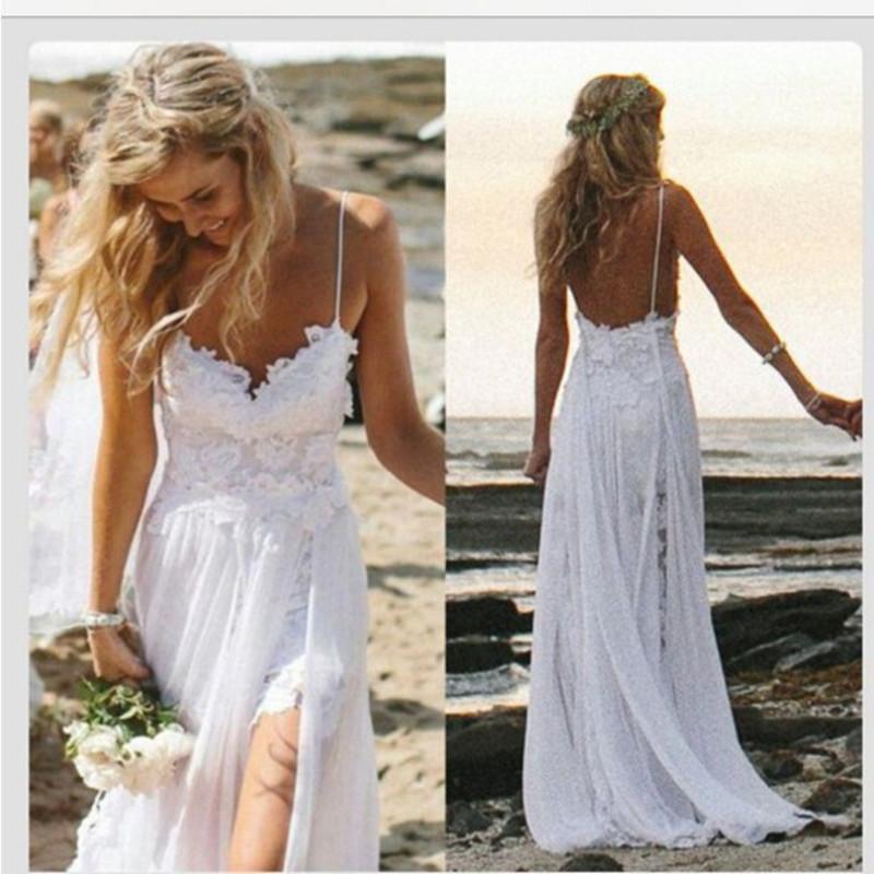 Легкие свадебные платья на море