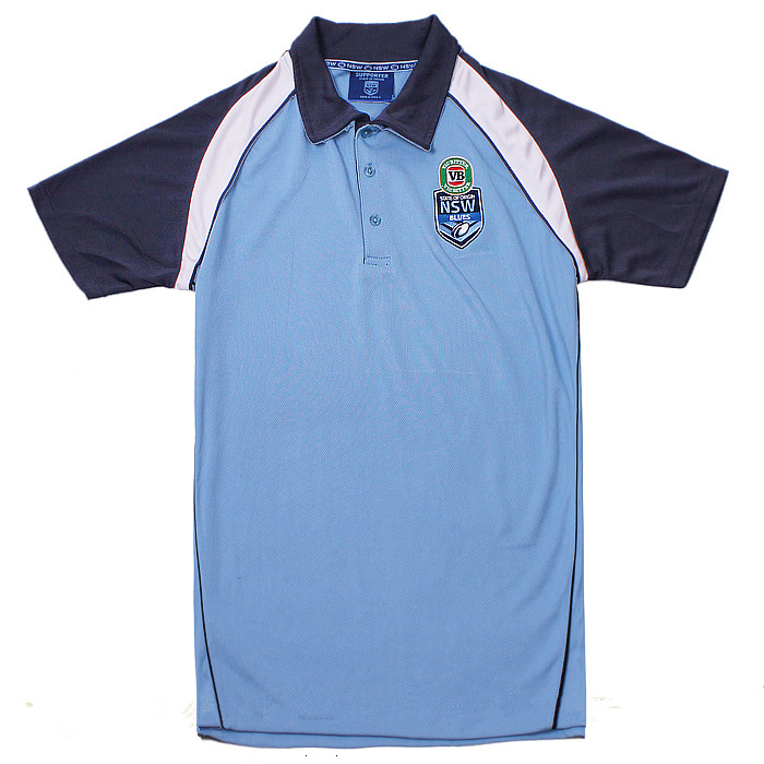 NRL NSW 2015 Rugby Jersey Men Short Sleeve Blue Rugby Shirt(China (Mainland))