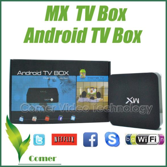 XBMC Full Pre-loaded Original MX Android TV Box 1GB/8GB Amlogic 8726 Dual Core Build in WiFi,Remote Control MINI PC TV Box(China (Mainland))