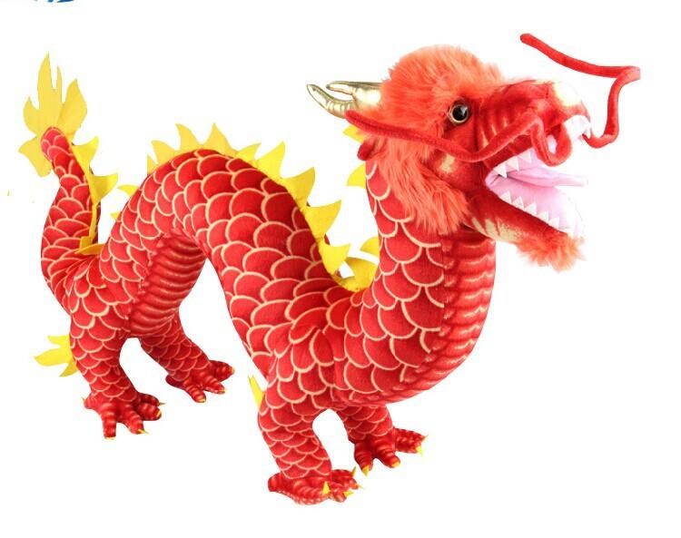 "50*85cm/20""*33"" Chinese Dragon Plush Stuffed Animal Doll Toy Novel Gift(China (Mainland))"